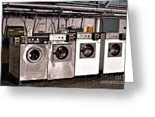After Enlightenment The Laundry. Greeting Card