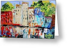 After Hours-reflection Greeting Card