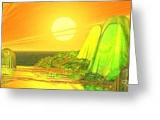 Green Crystal Hills Greeting Card