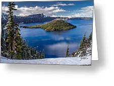 Afternoon Clearing At Crater Lake Greeting Card