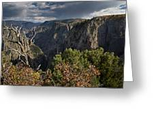 Afternoon Clouds Over Black Canyon Of The Gunnison Greeting Card