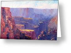 Afternoon In The Canyon Greeting Card