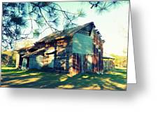 Afternoon Light On Barn Greeting Card