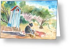 Afternoon On A Cretan Beach Greeting Card