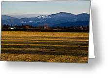 Afternoon Shadows Across A Rogue Valley Farm Greeting Card