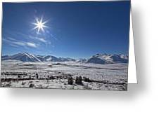 Afternoon Sun Along The Dempster Greeting Card