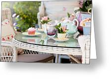 Afternoon Tea And Cakes Greeting Card