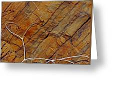 Against Rock Greeting Card