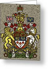 Aged And Cracked Canada Coat Of Arms Greeting Card
