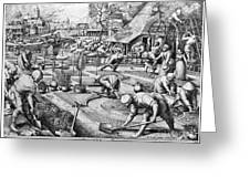 Agriculture: Spring, C1555 Greeting Card