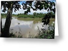 Agusan River Near Ja Pao Greeting Card