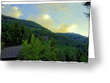Ah To Live On Vail Mountain Greeting Card