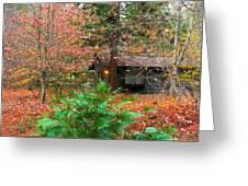 Ahwahnee Cabin Light Greeting Card