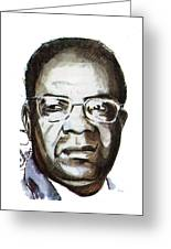 Aime Cesaire Greeting Card