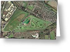 Aintree Horse Racing Track, Aerial Image Greeting Card