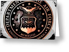 Air Force Medallion Greeting Card