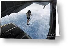 Air Force Pararescueman Jumps Greeting Card