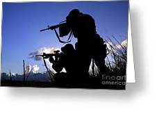 Air Force Security Forces Personnel Greeting Card