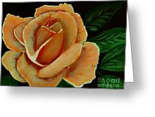 Airbrushed Coral Rose Greeting Card