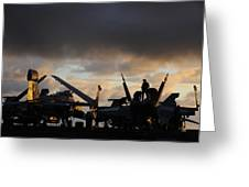 Aircraft Carrier Greeting Card by Ahp