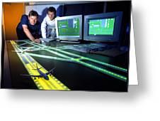 Airfield Lighting Simulation Greeting Card