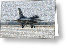 Airforce F-4866 Mosaic  Greeting Card