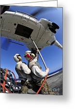 Airmen Attach Pallet Rigs To An Sa-330j Greeting Card