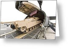 Airmen Load A Tank Into A C-5m Super Greeting Card