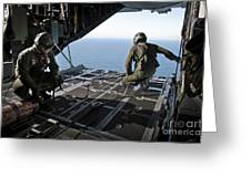 Airmen Wait For The Signal To Deploy Greeting Card