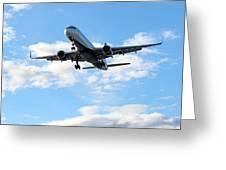Airplane Landing Greeting Card
