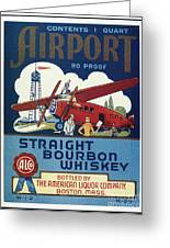 Airport Whiskey Label Greeting Card