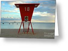 Ala Moana Lifeguard Station Greeting Card