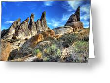 Alabama Hills Granite Fingers Greeting Card by Bob Christopher