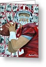 Alabama Quarterback Greeting Card by Michael Lee