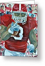Alabama Running Back Greeting Card by Michael Lee