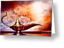 Aladdin Lamp Greeting Card