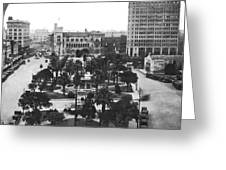 Alamo Plaza In San Antonio Greeting Card