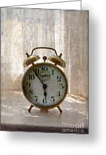 Alarm Clock On Windowsill Greeting Card