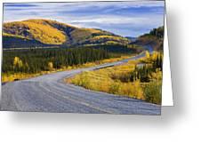 Alaska Highway Near Beaver Creek Greeting Card