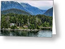 Alaskan Mountain Retreat Greeting Card