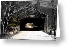 Albany Covered Bridge  Greeting Card