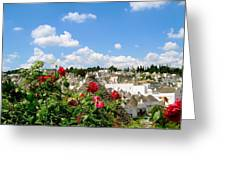 Alberobello Trulli Houses Greeting Card