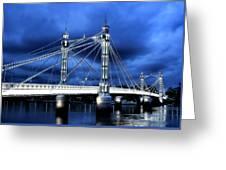 Albert Bridge London Greeting Card by Jasna Buncic