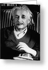 Albert Einstein, German-american Greeting Card