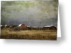 Alberta Farm Land Greeting Card