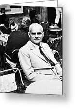 Alberto Moravia (1907-1990) Greeting Card by Granger