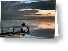 Albufera. Couple. Valencia. Spain Greeting Card