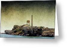 Alcatraz Greeting Card by Ellen Heaverlo