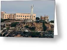 Alcatraz Island Lighthouse - San Francisco California  Greeting Card