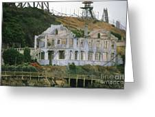 Alcatraz Skeleton Greeting Card